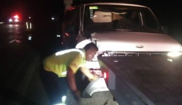 Clumsy accident on the Tepic-Villa Union Highway