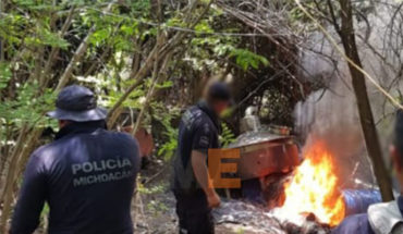 """Dismantled narcolaboratorio in """"La Ruana"""", Michoacán"""
