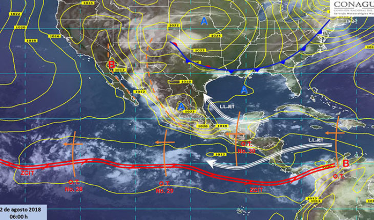 Forecast rainy day in much of Mexico Mexico.-