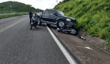 Let material losses a road accident in El Rosario