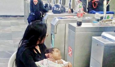 Man abandons his wife and baby in the subway to follow the Party