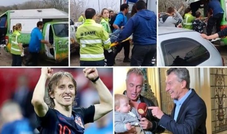 Miracle and rescue of two young, killed him to steal his motorcycle, Modric message to the Argentines, Mirko with Macri, and much more...