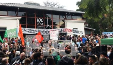 Mobilizations toward the UNAJ and UNQ against the defunding of public universities