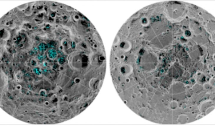 NASA confirms the existence of ice in the poles of the moon