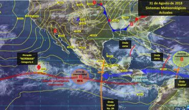 Prevén tormentas puntuales fuertes con actividad eléctrica en el occidente, centro, sur y oriente del país