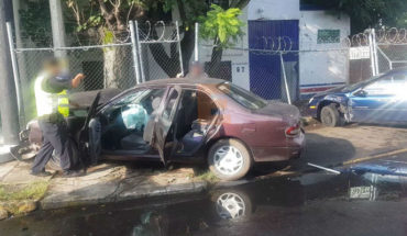 Teachers suffering from accident in the colony the Jericho from Zamora, Michoacán