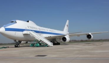 The Air Force E-4B, a flying fortress for the Pentagon chief