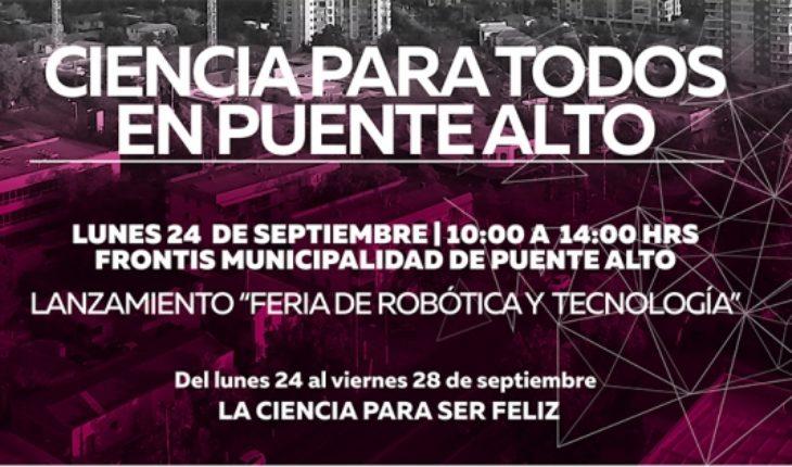 """""""Ciencia para ser Feliz"""": Congreso Futuro en Comunas comienza en Puente Alto"""