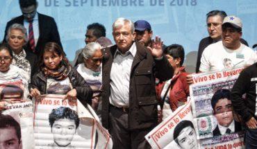 AMLO y padres de los 43 normalistas acuerdan investigación