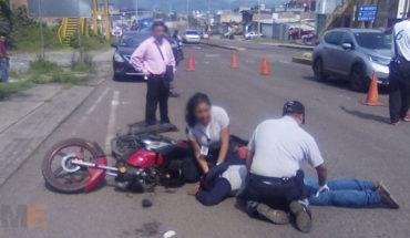 Accidentes de motocicletas dejan dos heridos, en Zitácuaro, Michoacán