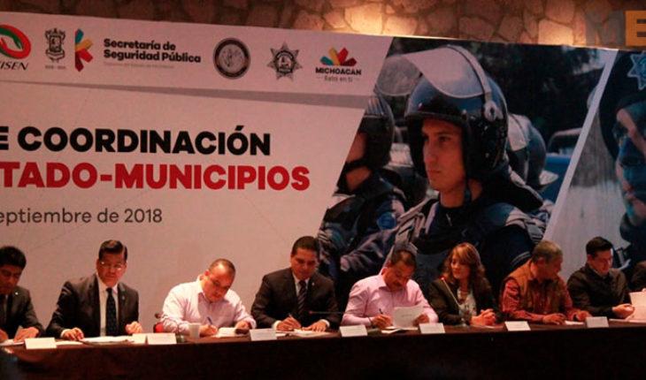 Alcaldes de Morena ausentes en la firma de colaboración de seguridad con el Gobierno de Michoacán