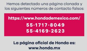 """Alertan sobre página """"pirata"""" de Honda, es usada para fraudes cibernéticos"""