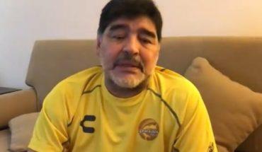 """Autógrafos por víveres"", Maradona pide ayuda para los damnificados en Sinaloa"