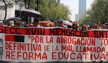 CNTE exige abrogación de la falsa reforma educativa y no otro planteamiento para modificar la Carta Magna