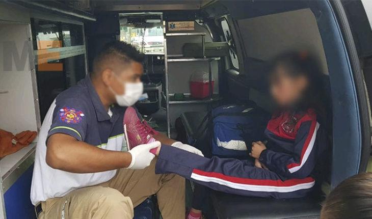 Camión de la Ruta Rosa embiste a ciclista y sus dos hijas en Zamora, Michoacán