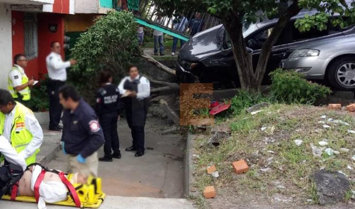 Camioneta choca contra 2 vehículos en Morelia, hay 4 heridos