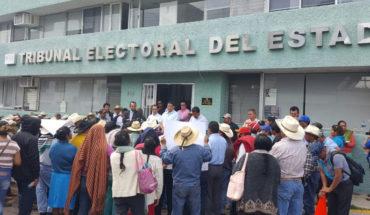 Comunidad de Sevina se manifiesta ante el Tribunal Electoral de Michoacán