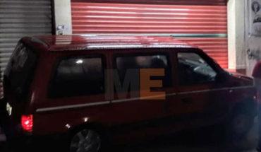 Conductor aparentemente ebrio choca contra céntrico negocio en Zitácuaro