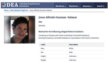 DEA incluye a hijo de El Chapo en lista de más buscados