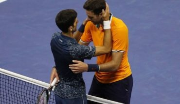 """Del Potro llegó a Argentina y elogió a Djokovic: """"Perdí con una leyenda"""""""