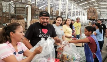 Diconsa distribuye despensas para damnificados de Sinaloa