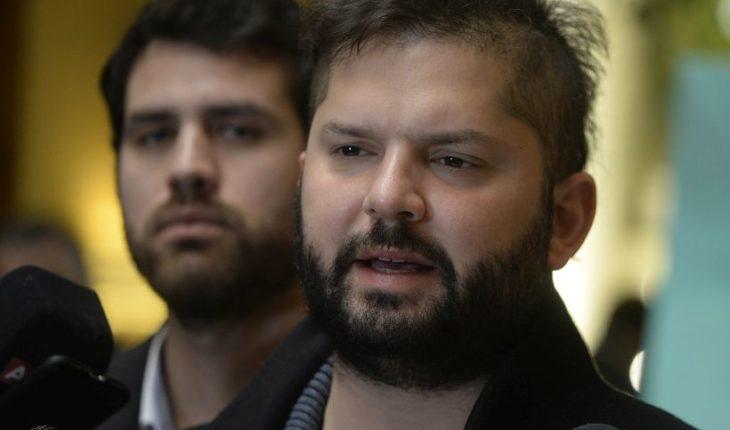 """Gabriel Boric: """"No estoy pensando en ser candidato presidencial"""""""