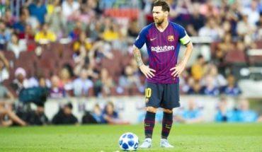 Messi fue al banco de suplentes, discutió con el árbitro y criticó al Barcelona