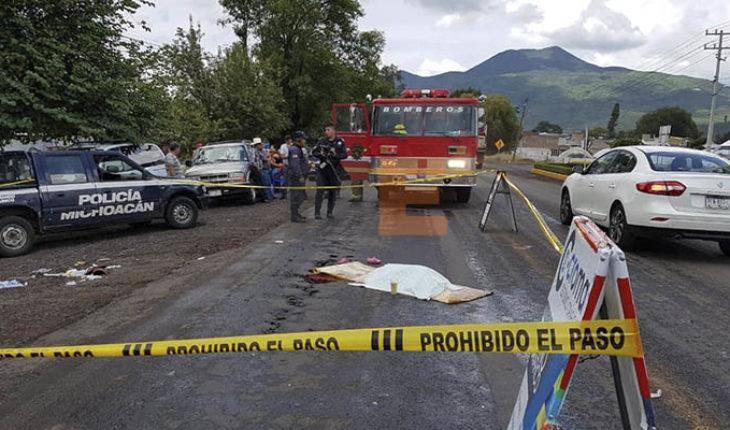 Muere una niña de cinco años al ser atropellada por una camioneta en Tangancícuaro, Michoacán
