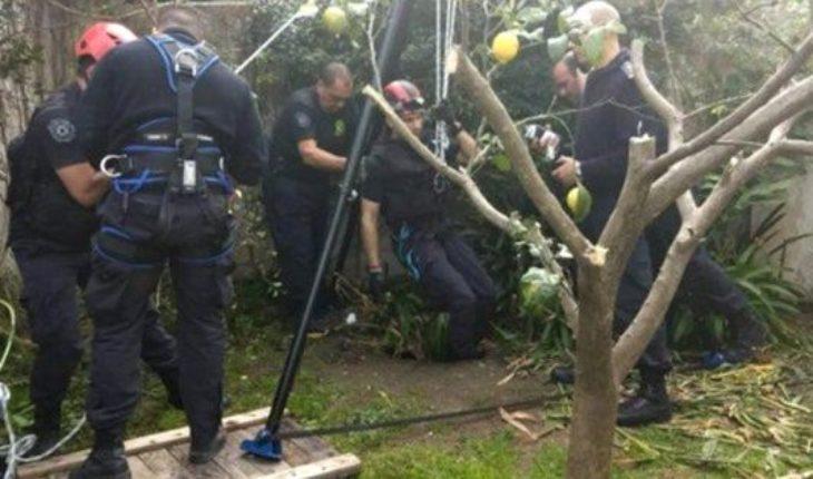 Murió la mujer de 95 años que fue rescatada tras caer en un pozo de cuatro metros