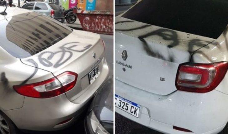 """Nuevos ataques de """"caza Uber"""": autos incendiados y grafiteados"""
