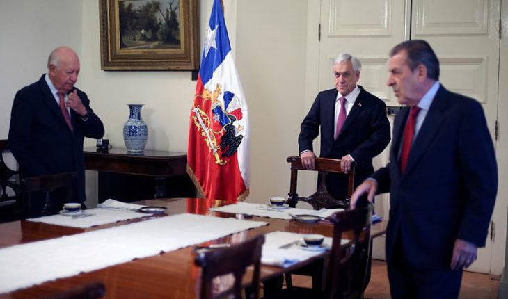 Piñera se reúne con ex presidentes Lagos y Frei por inminente fallo de La Haya