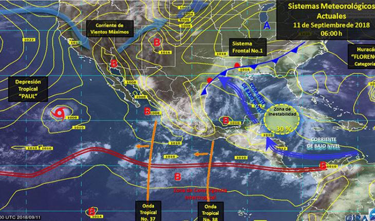 Pronostican tormentas puntuales intensas con actividad eléctrica en el noreste, occidente y oriente del país
