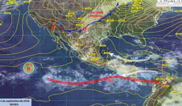 Pronostican tormentas puntuales muy fuertes con actividad eléctrica en Coahuila, Oaxaca, Puebla y Veracruz