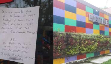 Raúl Morón deja sin empleados Ludoteca Municipal, padres de familia se manifiestan