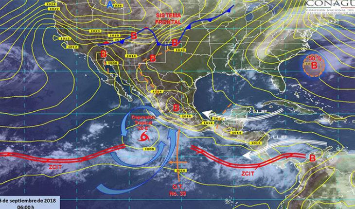 Se esperan tormentas puntuales intensas, actividad eléctrica y granizo en Nayarit, Oaxaca y Guerrero