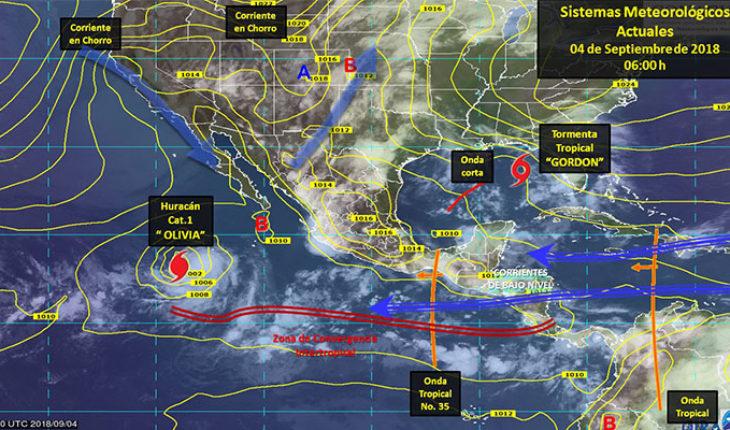 Se prevén tormentas puntuales intensas acompañadas de actividad eléctrica en Oaxaca y Chiapas