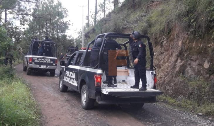 Se registra balacera entre policías y gatilleros en Chimilpa, Michoacán