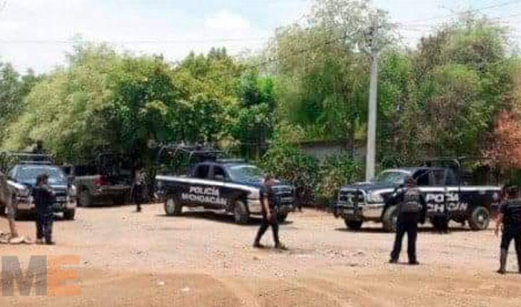 Se registra enfrentamiento entre policías y gatilleros en Apatzingán, Michoacán