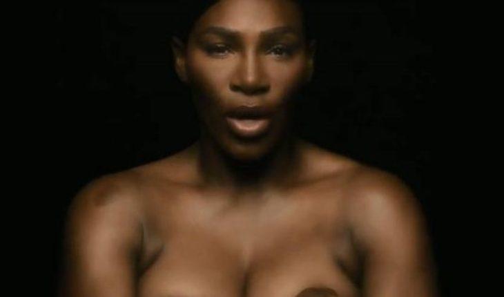 Serena Williams cantó desnuda para una campaña contra el cáncer de mama