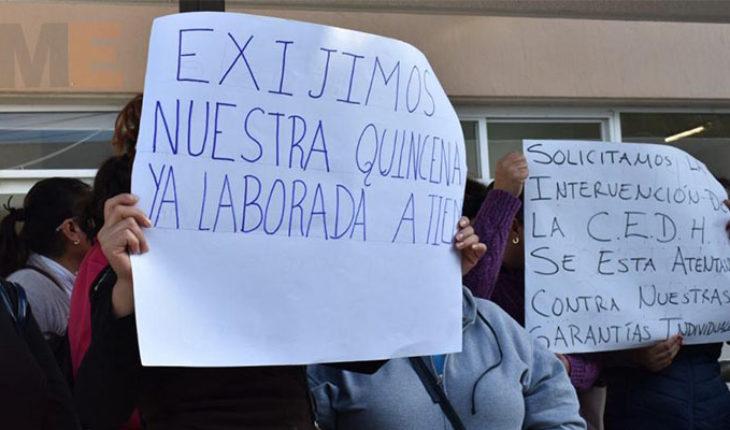 Sindicato de Trabajadores Descentralizados de los Servicios de Salud en Michoacán deposita queja ante CEDH