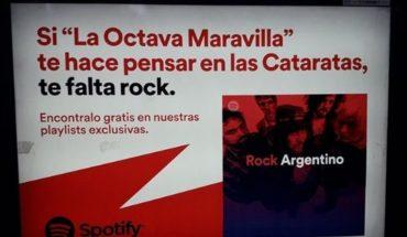 """""""Te falta rock"""", la frase utilizada en las campañas de Spotify que generó polémica"""