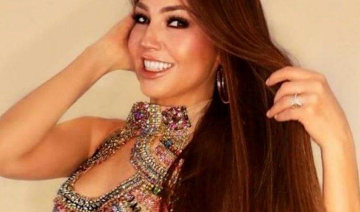 Thalía y su espectacular falda en su cumpleaños ¡de 197 mil pesos!