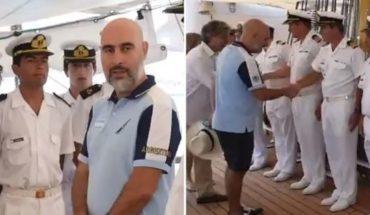 Un embajador recibió en bermudas a la Fragata Libertad y generó polémica