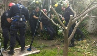 Una anciana de 95 años cayó en un pozo de cuatro metros y fue rescatada