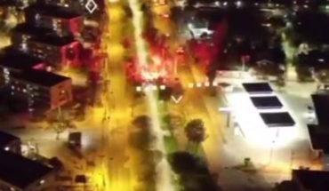 [VIDEO] 11 de septiembre: dron de Carabineros fue atacado con bengalas en Villa Francia