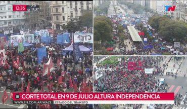 Día de cortes, marchas y ollas populares