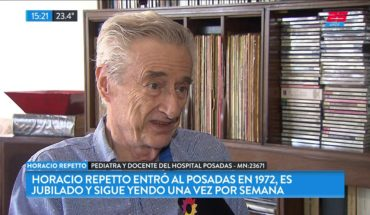 Horacio Repetto es pediatra jubilado y sigue capacitando residentes en el Hospital Posadas