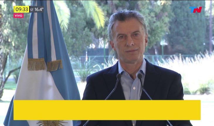 Macri anunció que el FMI adelantará fondos a nuestro país