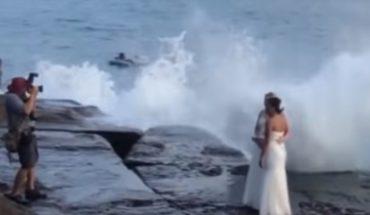 Video. Así es como una sesión de fotos de boda terminó en un desastre