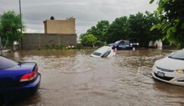 Video. Lluvias dejan inundaciones y suspensión de clases en Sinaloa